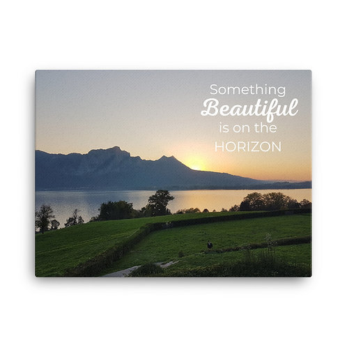 Something Beautiful is on the Horizon canvas