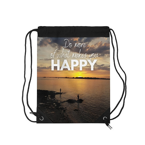 Brittany Drawstring Bag with Inspirational Quote