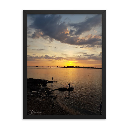 Sunset over Port Navalo