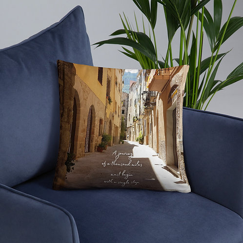 A Single Step Throw Pillow