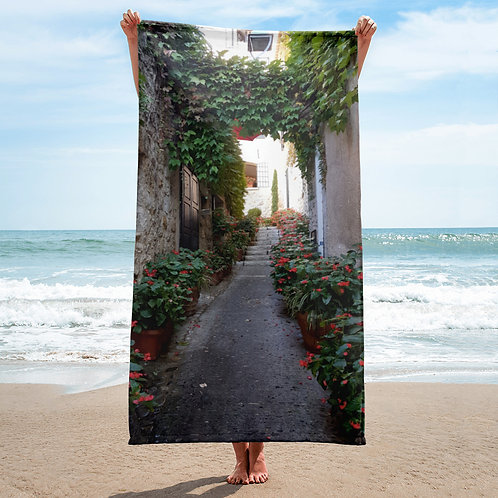 Laneway Flowers Towel