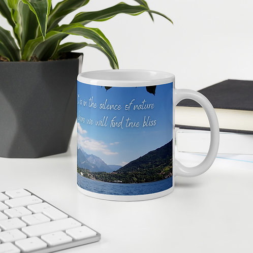 In the silence of nature inspirational mug