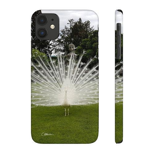 White Peacock Slim Phone Cases