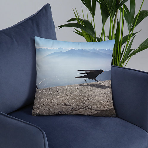 The COVID Bird Throw Pillow