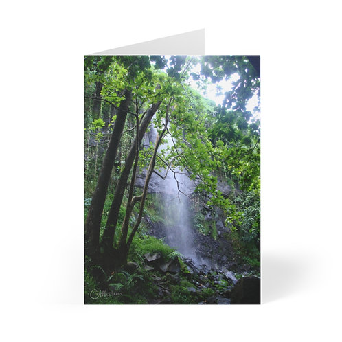 Reunion Is. Waterfall Greeting Cards (8 pcs)