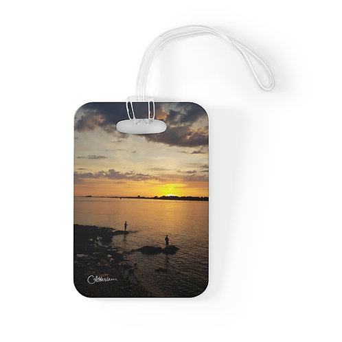 Sunset fishing Bag Tag