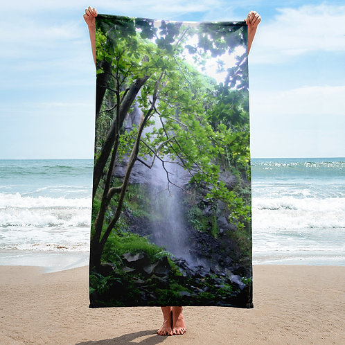 Reunion Island Waterfall Towel