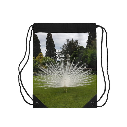 The Peacock Drawstring Bag