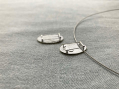 Gold leaf Brooch / necklace - back