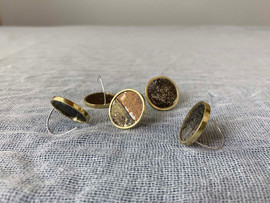 Earring / Aluminum and Brass
