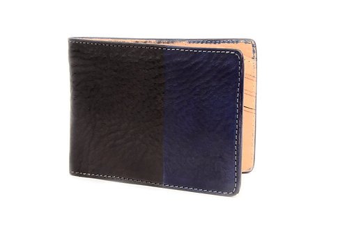 Blue/Black Bi-Fold Wallet