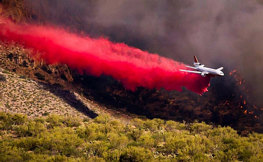 Millions of gallons of fire retardant dropped over Arizona fires.