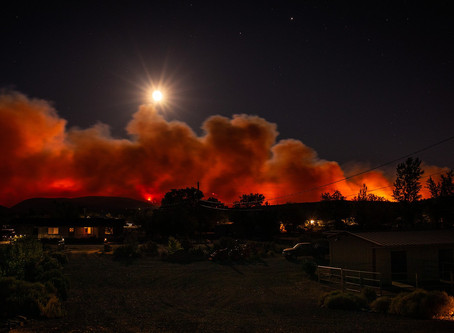 Dropping Down On The Nevada Fires