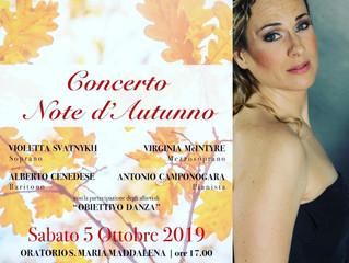 The Autumn Concert season Continues in Longare (VI)