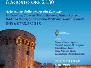 Gala Lirica in the Rocca Castle in Acquaviva Picena
