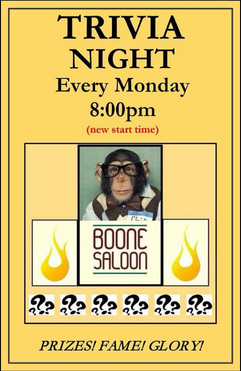 Boone Saloon Trivia Monday