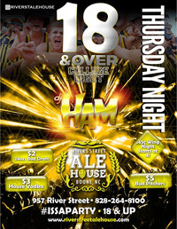 River St Ale House college night 18+