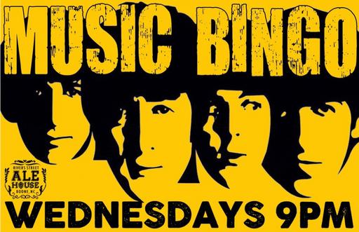 River St Ale House music bingo