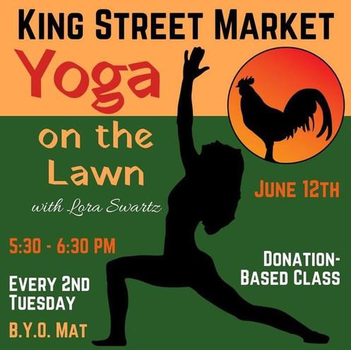 Yoga on the Lawn - King Street Market