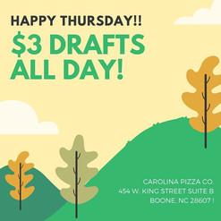 CPC $3 thurs drafts