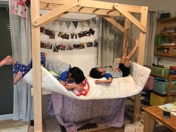 うんていが二段ベッドに!