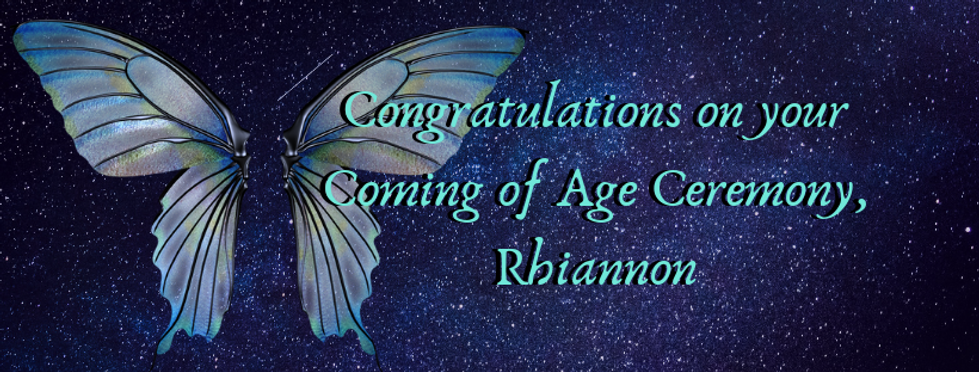 Congratulations on your Coming of Age Ce