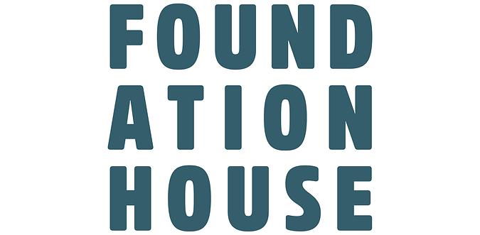 Foundation House Logo with large white b