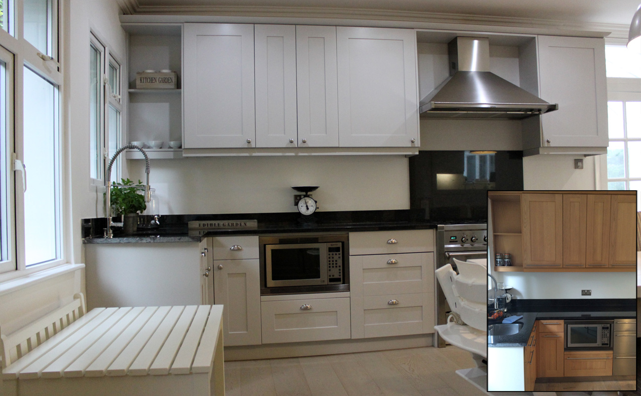 Oak Kitchen before/after