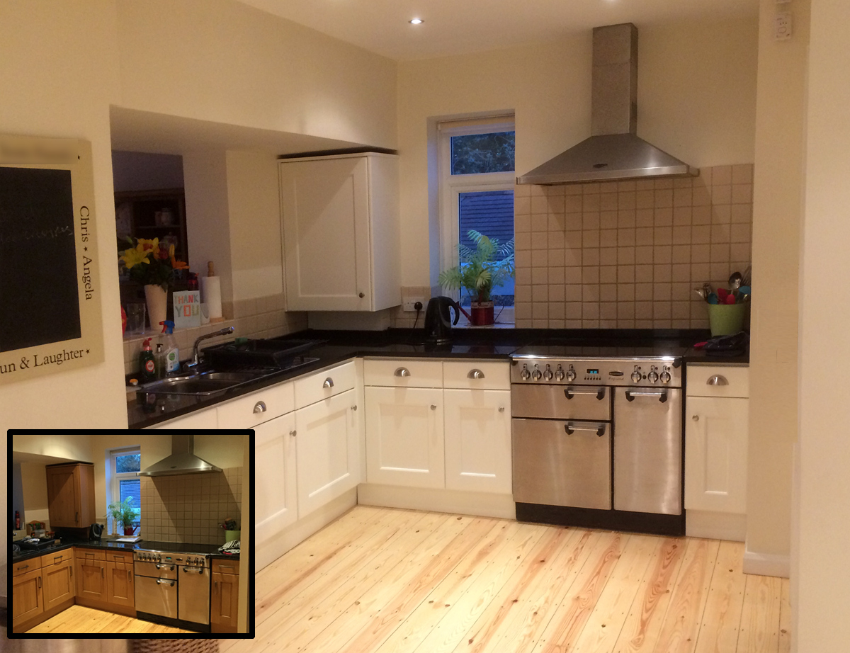 Wimbourne White painted kitchen