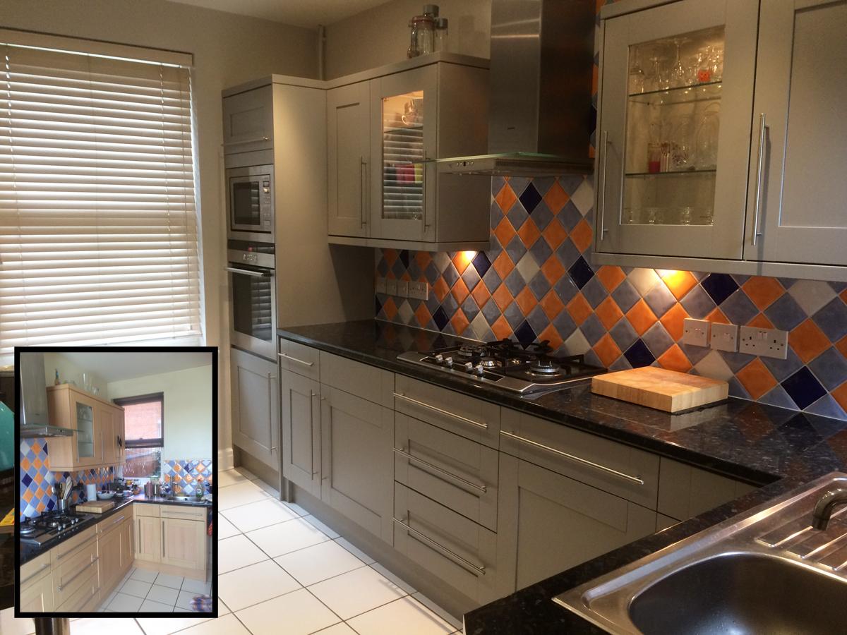 Little Greene Lead Colour kitchen