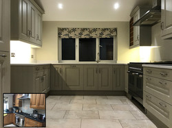 Kitchen painted in Hardwick White