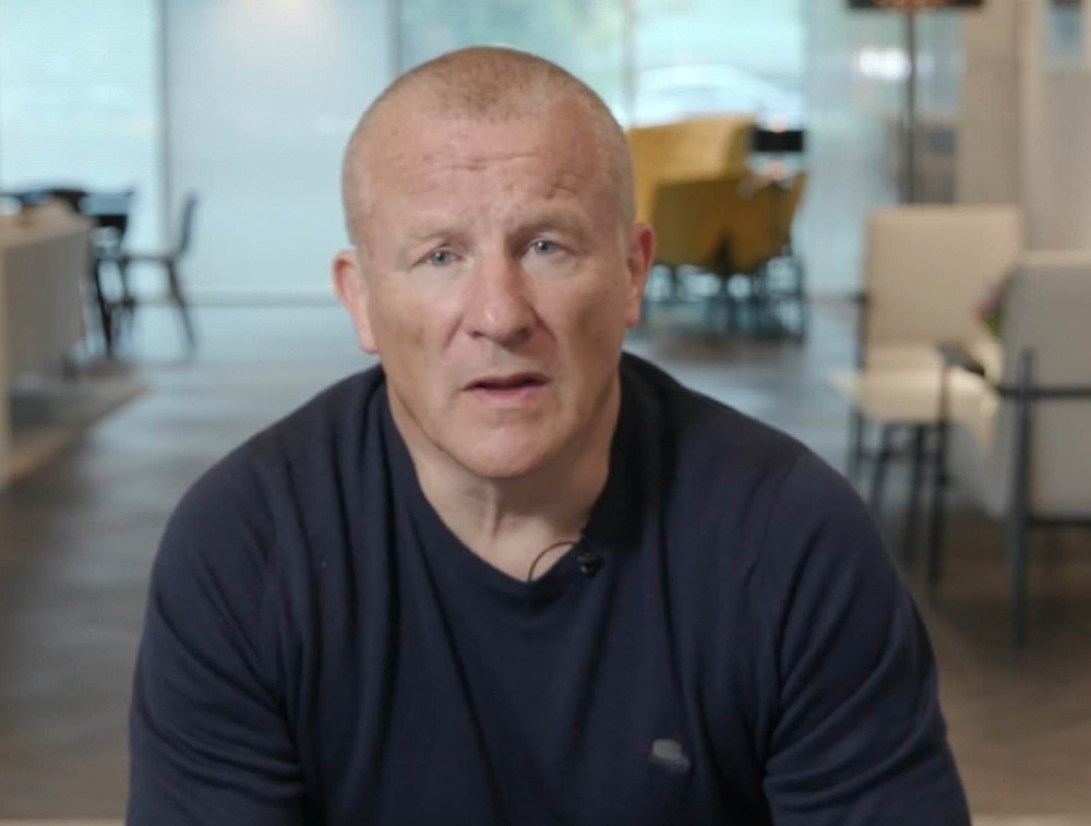Neil Woodford sitting in the offices of Woodford Equity Income Fund