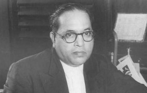 Indian jurist B R Ambedkar in his office in Delhi in 1947