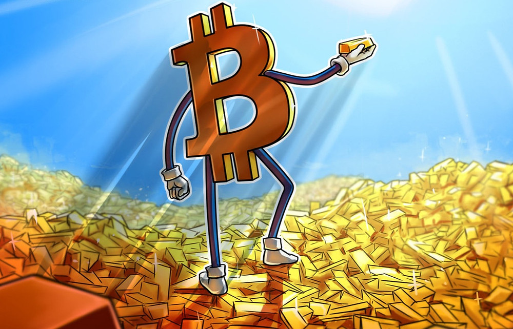 can gold and bitcoin coexist as bitcoin holds a gold bar