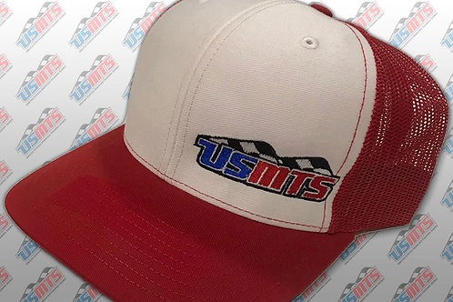 Adjustable Trucker Hat (Red/White)