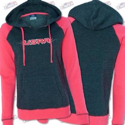 USRA Women's Harper Raglan Hooded Pullover Sweatshirt