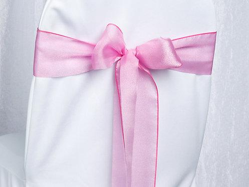Organza Pink Chair Sash