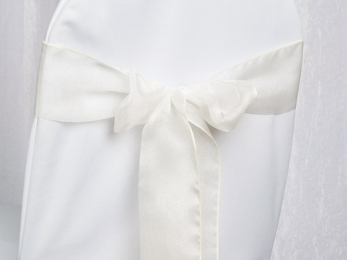 Organza Ivory Chair Sash