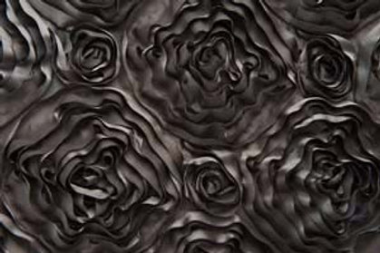 Ribbon Rose Charcoal Table Runner