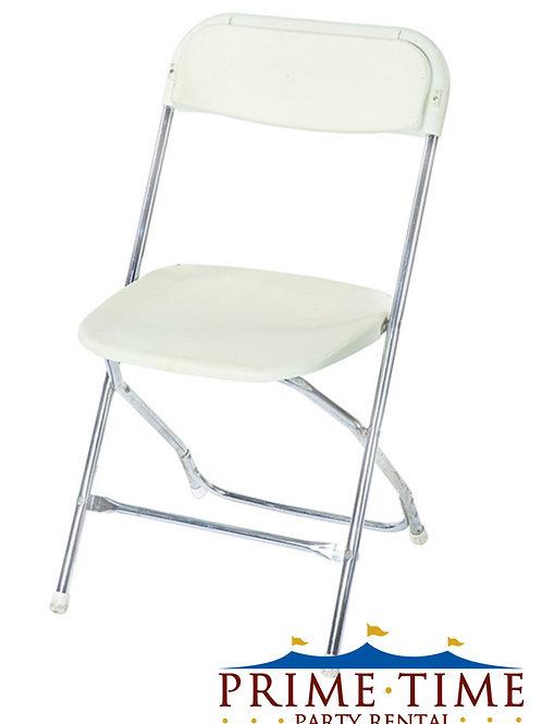 White Samsonite Chrome Chairs