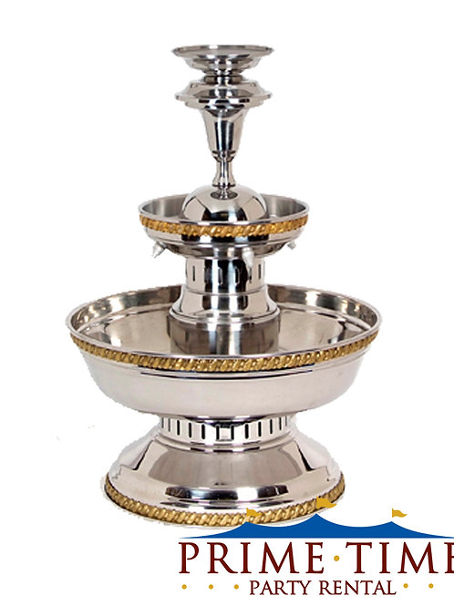 Silver Aluminum Beverage Fountain 5 gallon