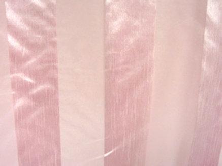 Eternity Stripe Sheer Pink Linen