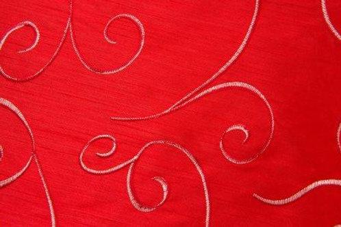 Nova Swirl China Red Linen