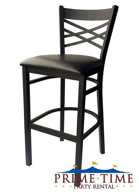 Black Cross Back Bar Stool