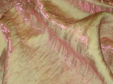 Iridescent Crush Pink Lime Mix Linen