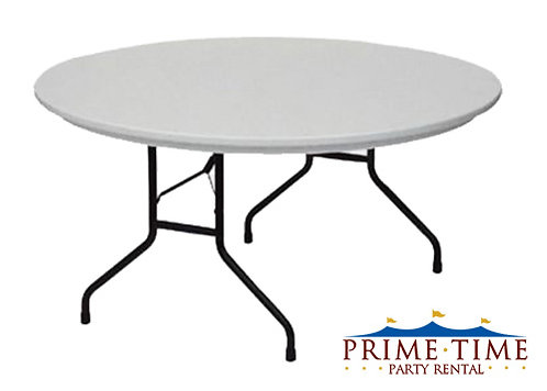 Round Poly Top Table 60""