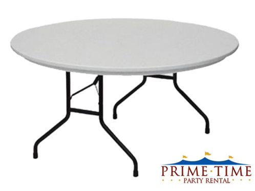 "72"" Round Poly Table"