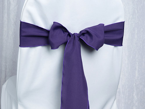 Poly Purple Chair Sash