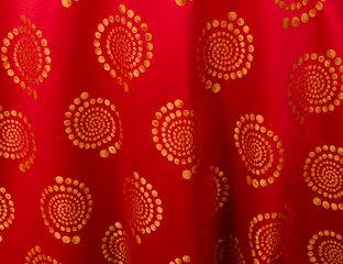 Kaleidoscope Bubble Fire Orange Linen