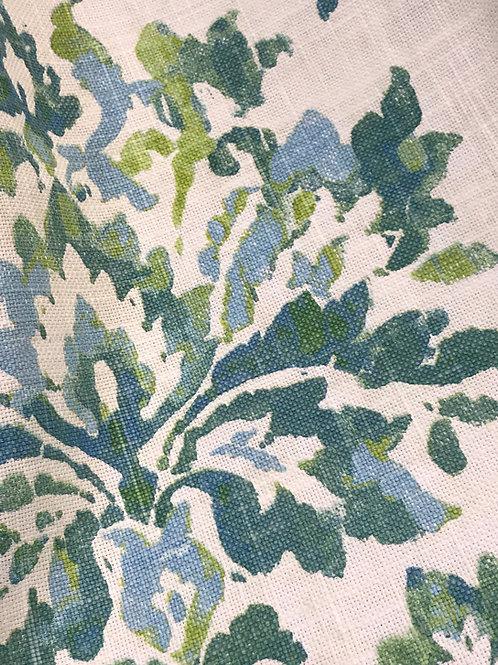 Cambay Isle Blue Floral Damask Vintage Linens